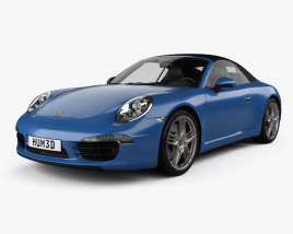 Porsche 911 Carrera 4 cabriolet 2012 3D model