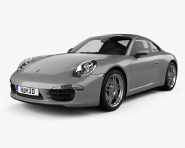 Porsche 911 Carrera 4 coupe 2012 3D model
