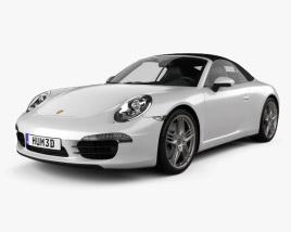 Porsche 911 Carrera 4 S cabriolet 2012 3D model