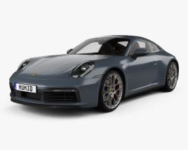 Porsche 911 Carrera 4S coupe with HQ interior 2019 3D model