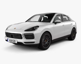 Porsche Cayenne S coupe 2019 3D model