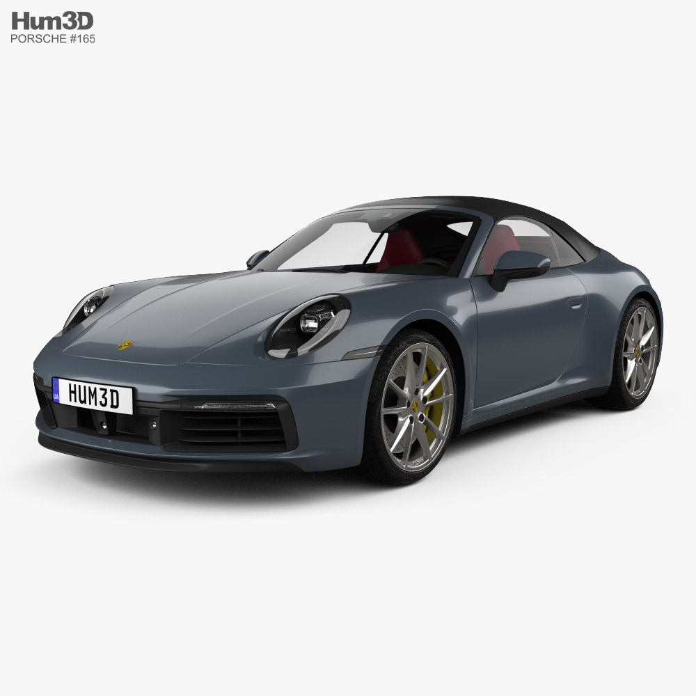 Porsche 911 Carrera 4S cabriolet with HQ interior 2019 3d model