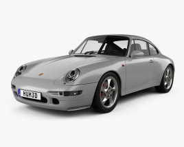 Porsche 911 Carrera 4S Coupe with HQ interior 1997 3D model