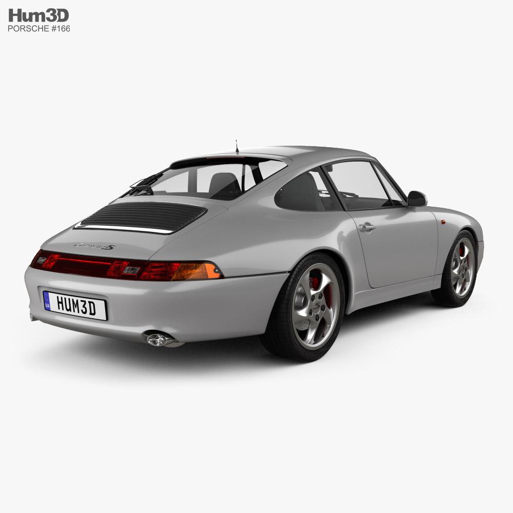 Porsche 911 Carrera 4S Coupe with HQ interior 1997 3d model