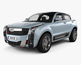 Qoros 2 SUV PHEV 2015 3D model