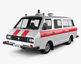 RAF 2203 Latvija Ambulance 1975 3D model