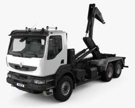 Renault Kerax Hook Loader 2011 3D model
