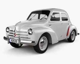 Renault 4CV sedan 1947-1961 3D model
