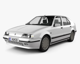 Renault 19 5-door hatchback 1988 3D model