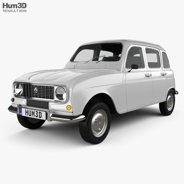 Renault Hatchback: Renault 4 (R4) Hatchback 1974 3D Model
