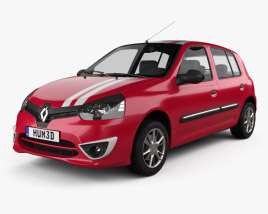 Renault Clio Mercosur Sport 5-door hatchback 2013 3D model