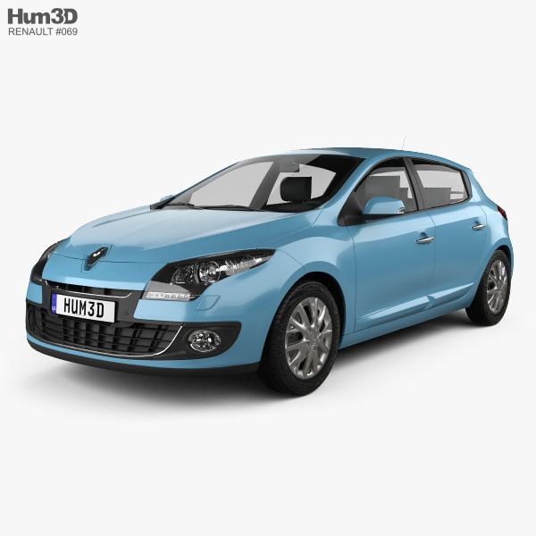 Renault Hatchback: Renault Megane 5-door Hatchback 2013 3D Model