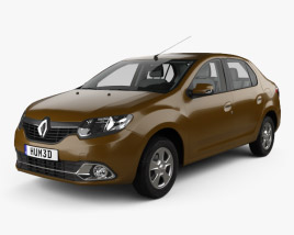 Renault Logan sedan (Brazil) with HQ interior 2013 3D model