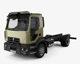 Renault D 14 Chassis Truck 2013 3D model