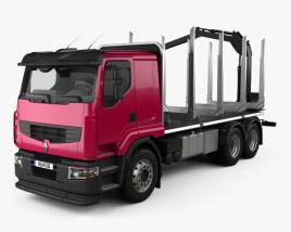 Renault Premium Lander Logging Truck 2006 3D model
