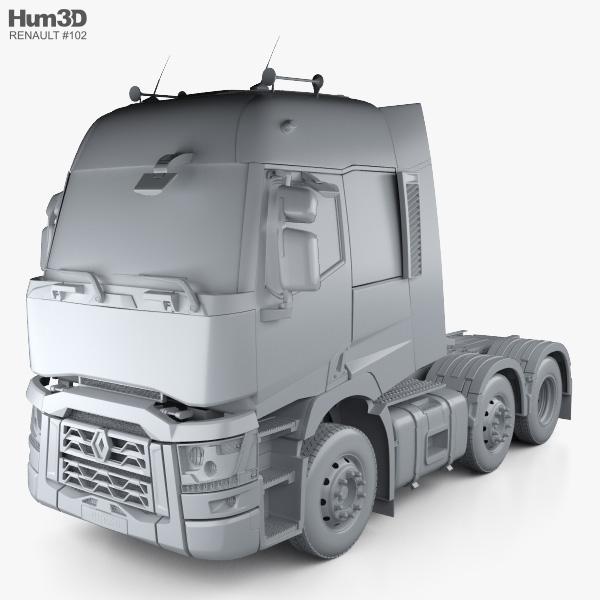 Herpa 310635 renault t Tractor Rojo camiones semirremolque construiste transformación geeígnet