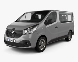 Renault Trafic Passenger Van 2014 3D model