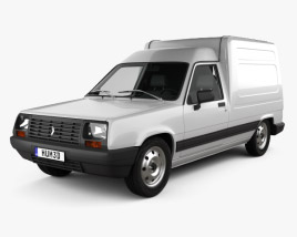Renault Express with HQ interior 1985 3D model