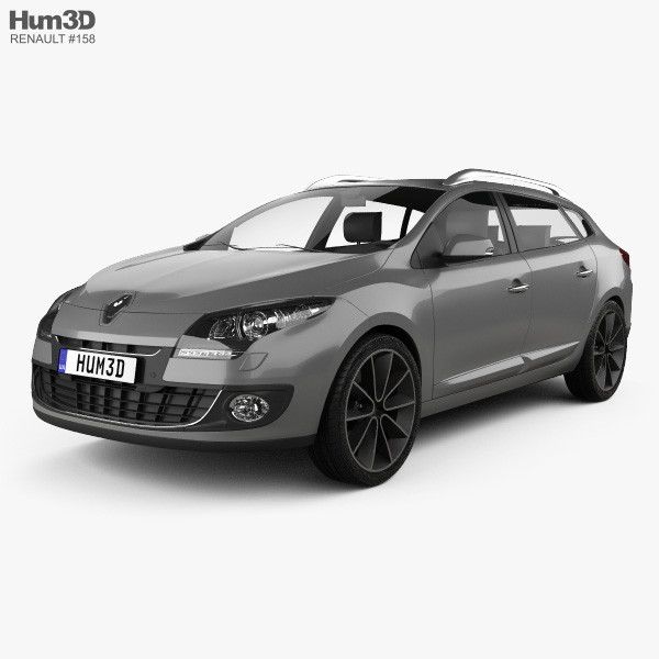 Renault Megane: Renault Megane Estate 2012 3D Model