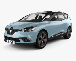 Renault Grand Scenic Dynamique S Nav 2017 3D model