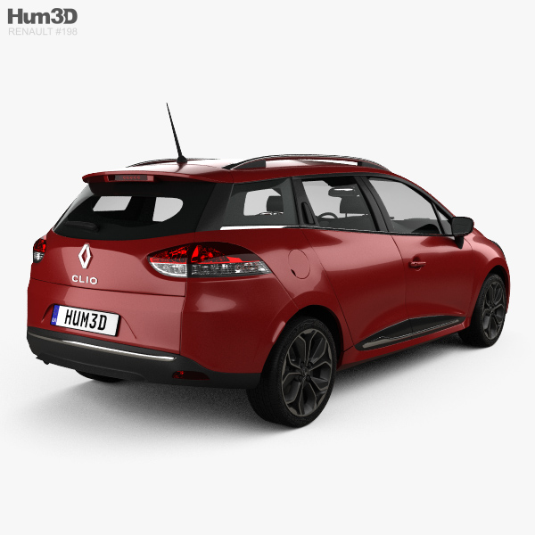 renault clio signature nav estate 2016 3d model hum3d. Black Bedroom Furniture Sets. Home Design Ideas