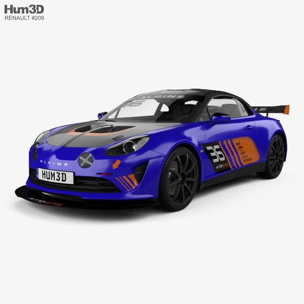 renault alpine a110 gt4 2017 3d model hum3d. Black Bedroom Furniture Sets. Home Design Ideas