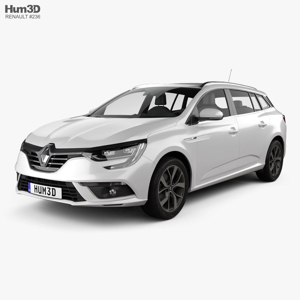 Renault Megane estate 2016 3d model