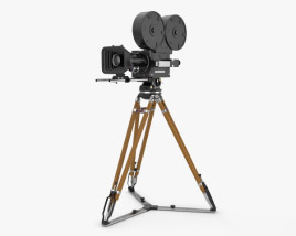 Retro Movie Camera 3D model