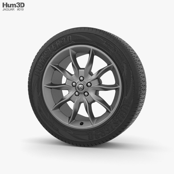 Jaguar XFR 20 inch rim Draco Dark Grey 3d model