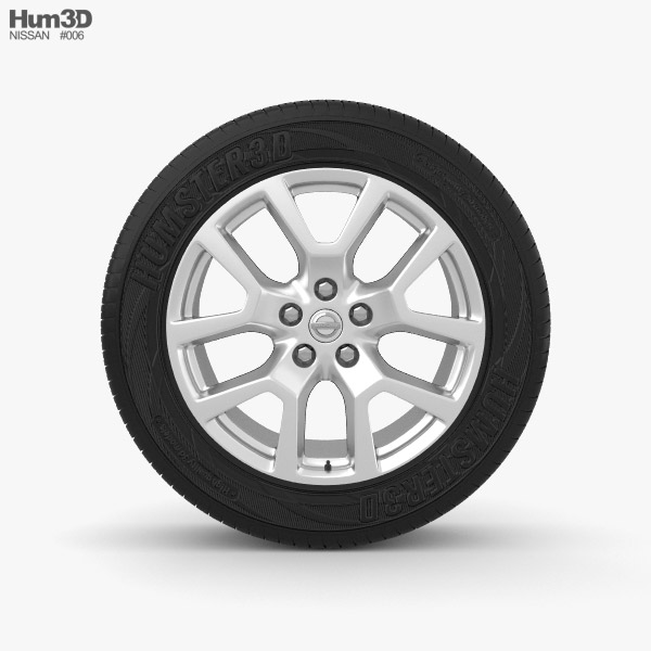 Nissan X-Trail 18 inch rim 001 3d model