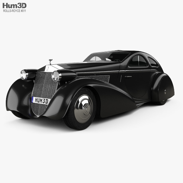 Rolls-Royce Phantom Jonckheere Coupe 1934 3D Model