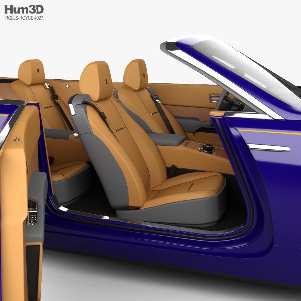 2017 Rolls Royce Dawn Transmission: Rolls-Royce Dawn With HQ Interior 2017 3D Model