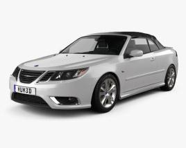 Saab 9-3 convertible 2008 3D model