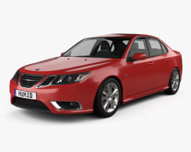 Saab 9-3 Sport Sedan 2008 3D model
