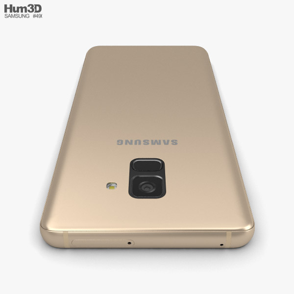 Samsung Galaxy A8 2018 Gold 3d Model Electronics On Hum3d