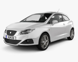 Seat Ibiza Sport Coupe 3-door 2011 3D model