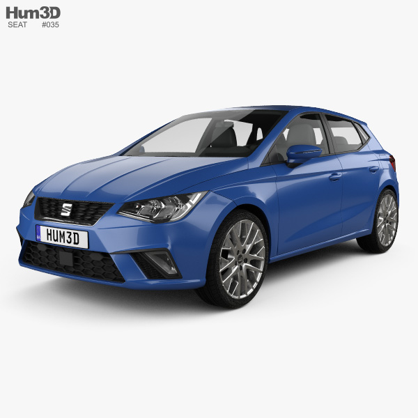 seat ibiza style 2017 3d model vehicles on hum3d. Black Bedroom Furniture Sets. Home Design Ideas
