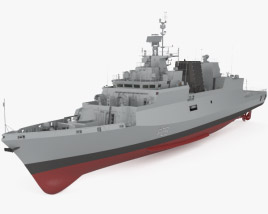 Kamorta-class corvette 3D model