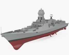 Kolkata-class destroyer 3D model