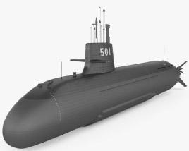 Soryu-class submarine 3D model