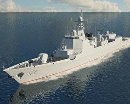 Type 052D destroyer 3D model