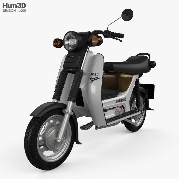 simson sr50 1986 3d model hum3d