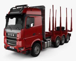Sisu Polar Timber Truck 2014 3D model
