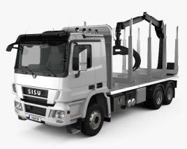Sisu Polar Logging Truck 2010 3D model
