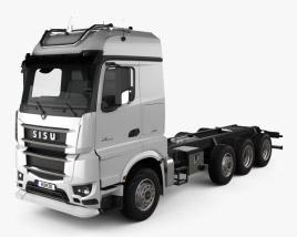 Sisu Polar Chassis Truck 4-axle 2014 3D model