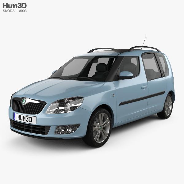 skoda roomster 2011 3d model vehicles on hum3d. Black Bedroom Furniture Sets. Home Design Ideas