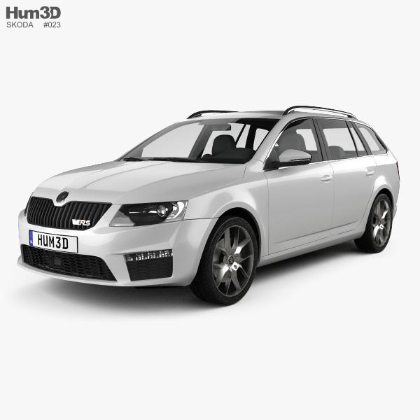 skoda octavia rs combi 2013 3d model vehicles on hum3d. Black Bedroom Furniture Sets. Home Design Ideas