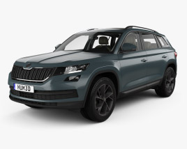 Skoda Kodiaq with HQ interior 2017 3D model