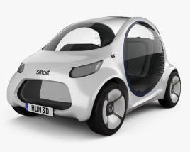 Smart Vision EQ Fortwo 2017 3D model