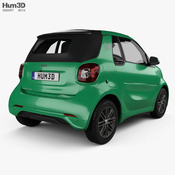smart fortwo brabus electric drive cabriolet 2017 3d model hum3d. Black Bedroom Furniture Sets. Home Design Ideas